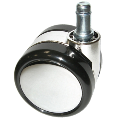 large chrome chair caster wheels with soft treads for hardwood floors