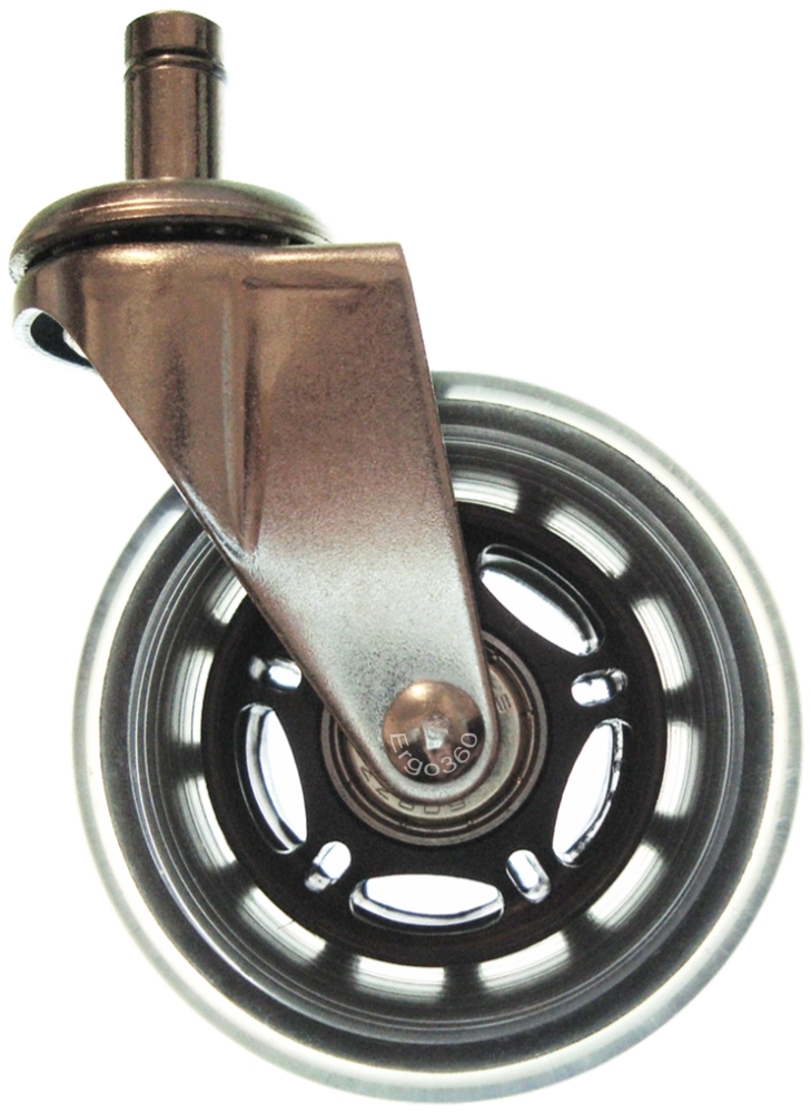 3 Inch Soft Rubber Roller Blade Style Chair Caster Wheels